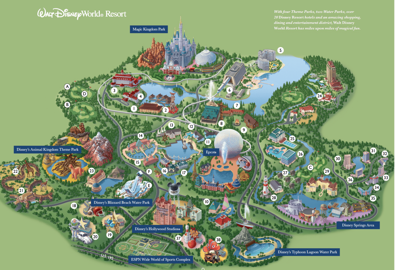 Clean image pertaining to printable disney world maps
