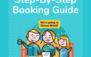 An illustration of a family sitting on a sofa having fun planning their Disney World vacation with MousePlanner.